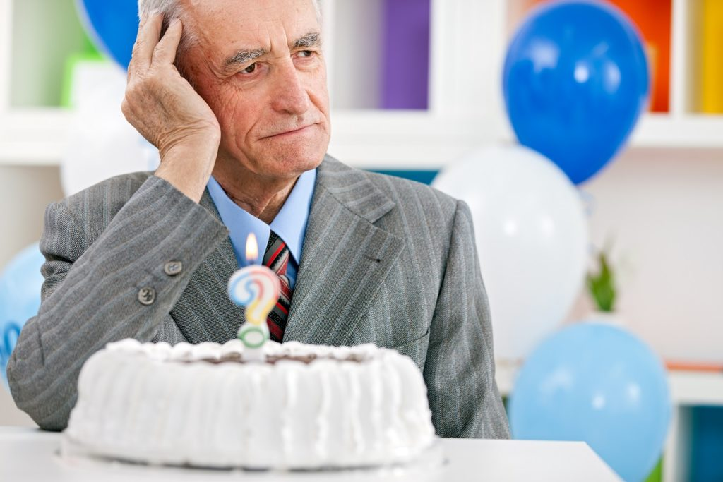 Senior trying to remember his age