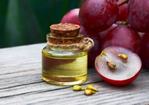 argan oil in a glass bottle